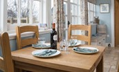 Heritage Cottage - dining table