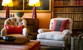 Leuchie Walled Garden - drawing room armchairs