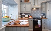 The Cottage - kitchen with bespoke cabinetry