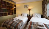 The Cottage - bedroom two with twin beds (1)