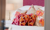 Harebell Cottage - pink double bedroom cushions