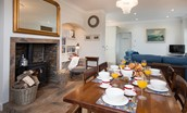 South Lodge - dining room & wood burning stove
