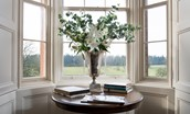 The Earl & Countess - sitting room bay window with views over the parklands