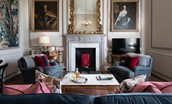 The Earl & Countess - sitting room with decorative fireplace