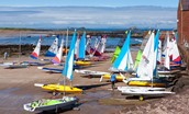 East Bay Beach House - North Berwick sailing boats