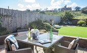 East Bay Beach House  -  rear garden dining furniture