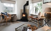 The Lodge - wood burning stove