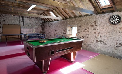 I think of this as a party house. Ideal for larger groups, with the games room close by to keep the youngsters entertained and just a short walk to the river for an evening cast.