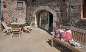 The Byre at Reedsford - outside seating area