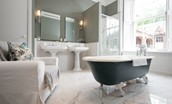 The Lauderdale - bathroom with roll top bath