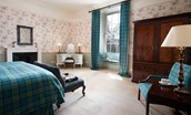The Lauderdale - bedroom with tartan