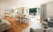 Twizel Mill - open plan dining area with snug and kitchen