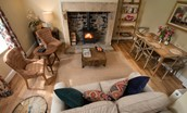 Aydon Castle Cottage - open plan living area