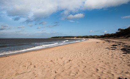 The wide open sands of Gullane Bents offers fantastic walking all the way down to North Berwick.