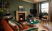 Sitting room - with rich heritage colour scheme