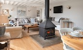 The Coach House - open plan sitting room and dining area