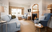 Tweedside - sitting room area with open fire