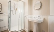 Tweedside - ground floor bathroom with corner shower