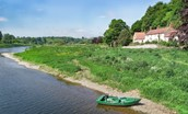 The Boathouse - River Tweed & boat