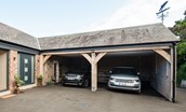 Coledale Stables - private double parking bay within the inner courtyard