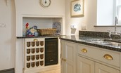 Abbey House - kitchen & wine fridge
