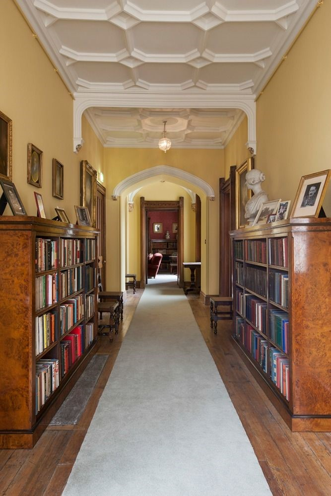 Abbotsford Hope Scott Wing - grand corridor leading to reading room