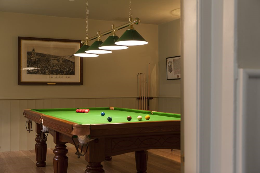 Abbotsford Hope Scott Wing - games room with billiard table