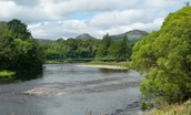 Dryburgh Steadings - River Tweed and Eildon Hills