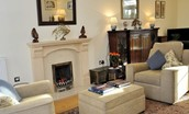 Ardgowan - sitting room with fire
