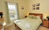 Ardgowan - bedroom two with views to golf course