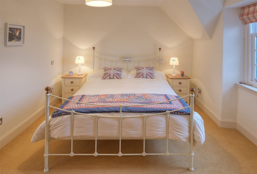 Balmoral Cottage - bedroom three with king size bed