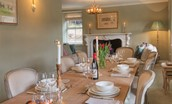 Bramley Cottage - dining table
