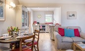 Barley Hill Cottage - kitchen & open plan living space