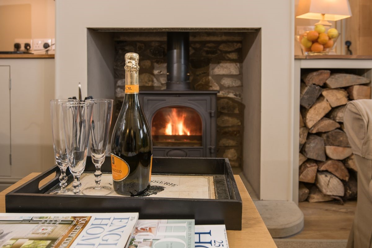 Barley Hill Cottage - fireside