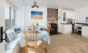 Beachcomber Cottage - dining area & kitchen