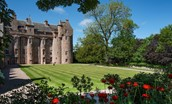 Thirlestane Castle - lawn at rear