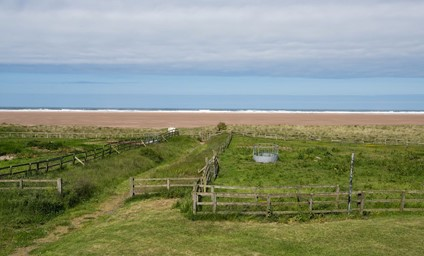 A hop, skip and jump from the cottage will lead you to beachy adventures on Goswick Sands.