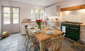 Border Cottage - kitchen with dining area