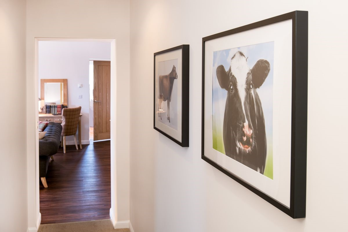The carefully selected artworks are a fun touch which reflect the history of the building.
