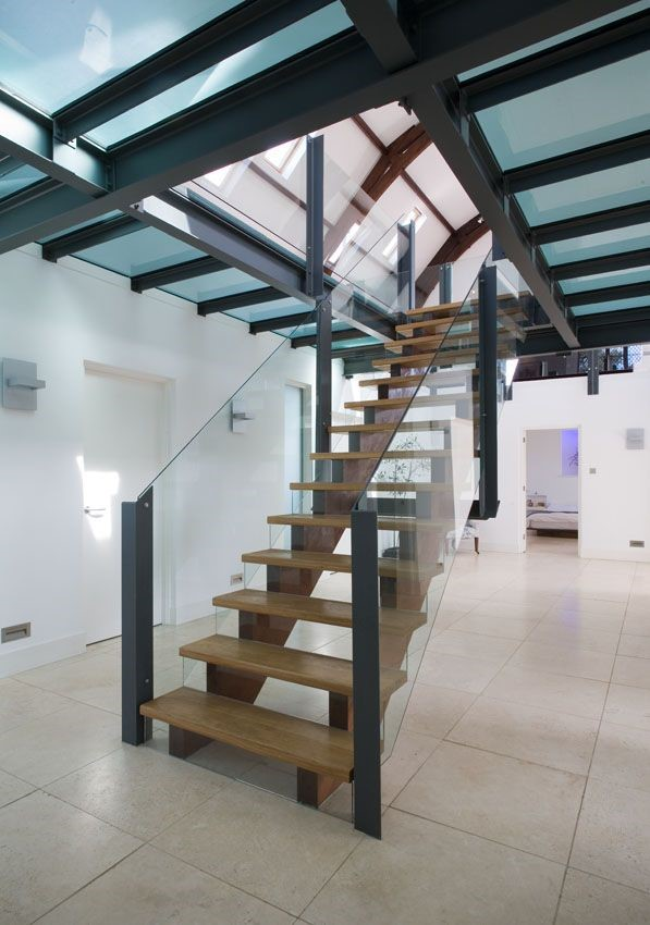 Cairns House - feature staircase & lower hallway