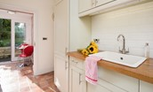 Captain's Rest - kitchen with access to rear garden