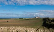 Captain's Rest - surrounding countryside & view of Bamburgh Castle