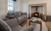 Chaffinch Cottage - sitting room with coffee table