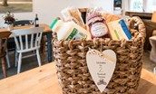 Chestnut Cottage - welcome basket