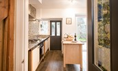 Chestnut Cottage - kitchen & door to utility room