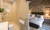 Coach House - bedroom one en suite bathroom - ground floor