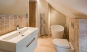 Coach House - bedroom three en suite bathroom - first floor