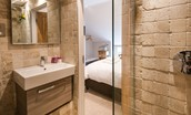 Coach House - bedroom two en suite bathroom - first floor