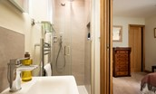 Old Granary House - en suite of bedroom three featuring a walk-in shower with rainforest head and separate mixer