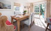 Coldstream Coach House - dining area & door to garden